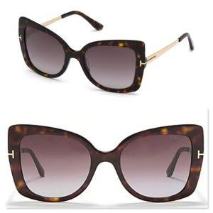 New TOM FORD Butterfly Havana Sunglasses